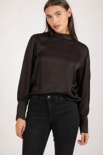 AAIKO Shirt / Top Bruin SUELYNN DOTS