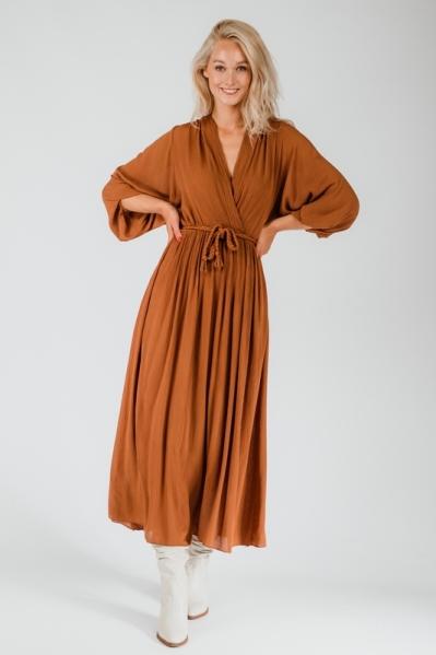 Ambika Maxi-jurk Camel Jurk uni