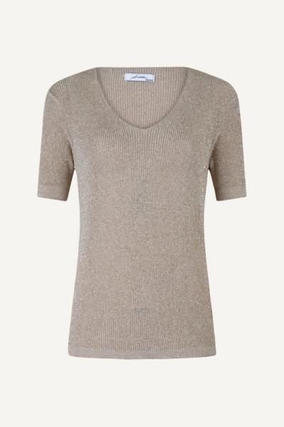 Ambika Shirt / Top Camel Lurex top