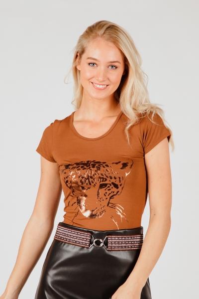 Iz Naiz Shirt / Top Camel 3369-tiger