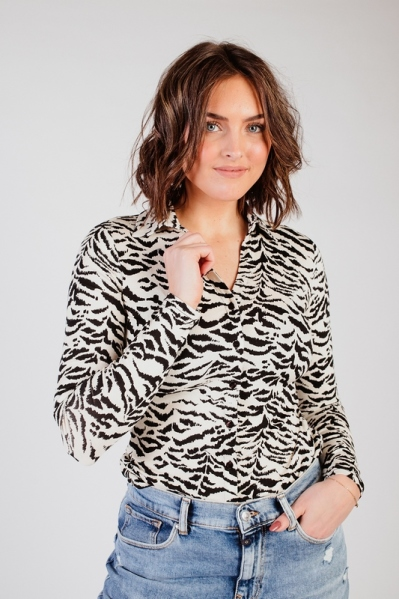Blouse print zebra multi