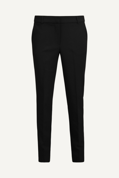 Stretch pantalon vouwtje voor zwart  zwart