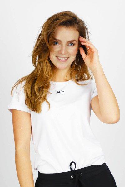 Shirte wit &Co logo korte mouw  wit