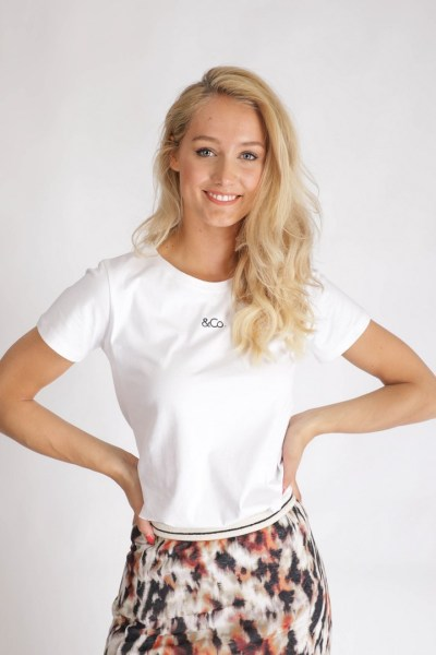 &Co logo shirt wit  wit