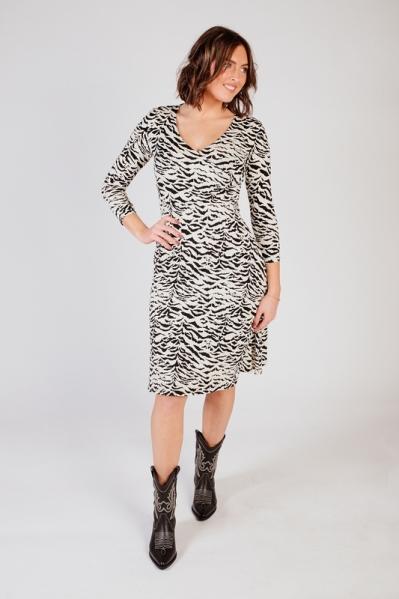 Zebra dress zwart/wit