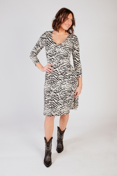 Zebra dress zwart/wit