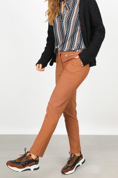 &Co Woman Broek Cognac Amani
