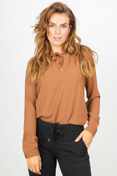 &Co Woman Shirt / Top Cognac Eef