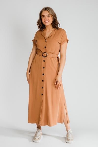 Nova Cinq Maxi-jurken Cognac Pomme