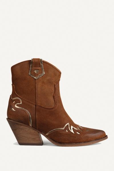 Shoecolate Cowboylaarzen Hak Cognac 8.20.08.095