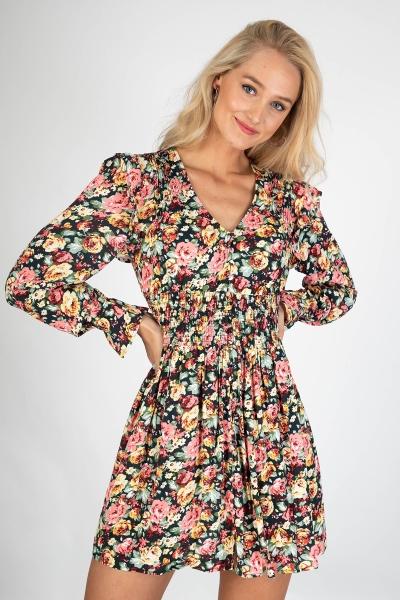 Tessa flower mini dress pastel  multi
