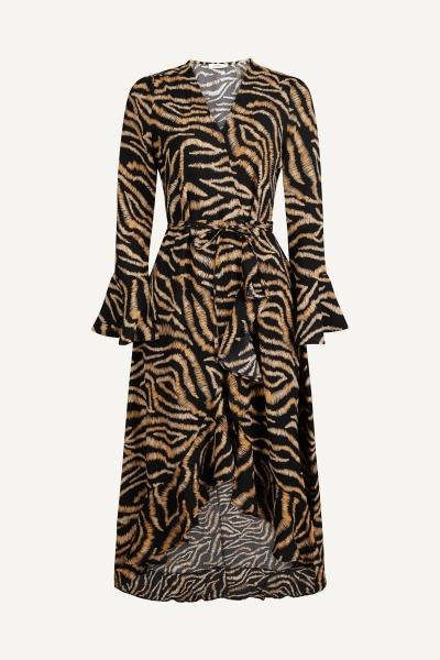 Ambika Maxi-jurken Dierenprint Quilla