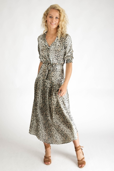 Ambika Maxi-jurken Dierenprint Shirley