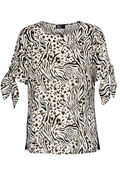 &Co Woman Shirt / Top Dierenprint Reina Top