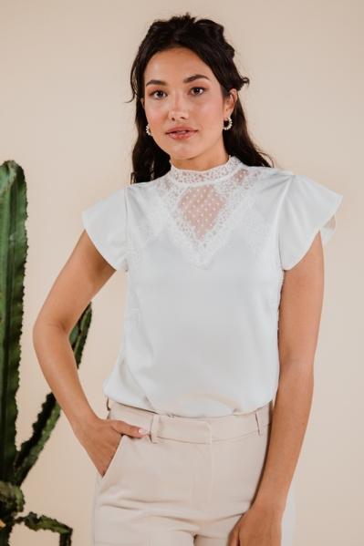 Femme9 Shirt / Top Ecru Brenda