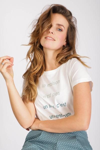 ICHI Shirt / Top Ecru Ihroberta SS3