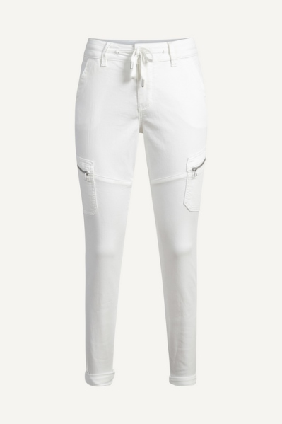 Red Button Broek Ecru Combat