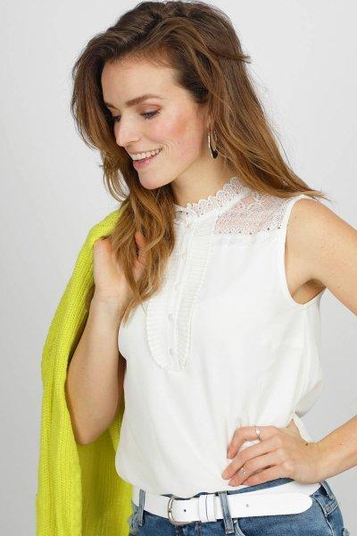 Tramontana Shirt / Top Ecru C25-94-306