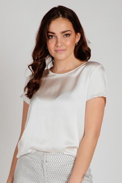 Shirt korte mouw  off white