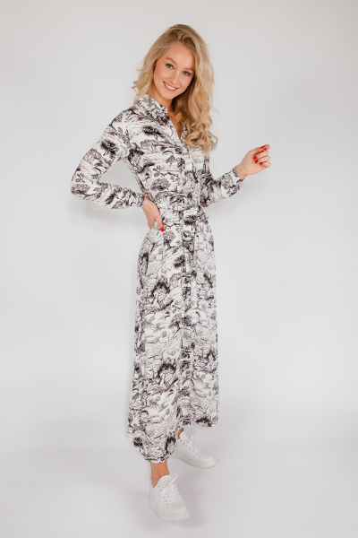 Signature Animal Kingdom maxi zwart wit  zwart/wit
