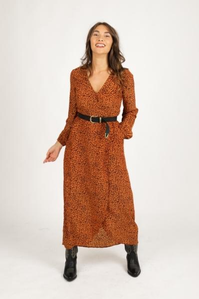 Maxi dress long sleeve d.bruin