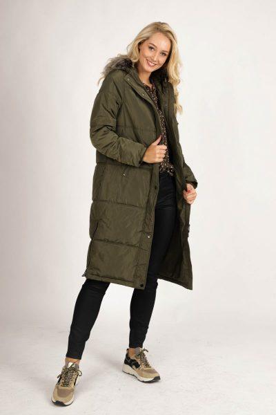 Coat recycled padding ECO-AWARE army