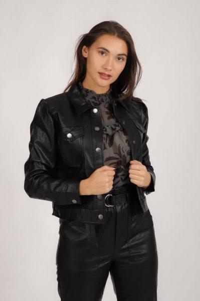 Jacket PU zwart