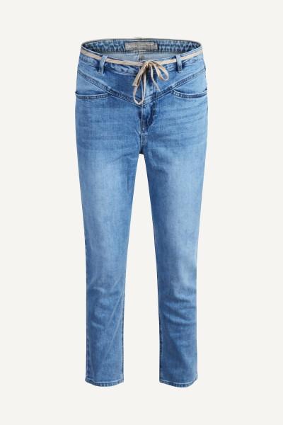 Jeans + drawstring blauw