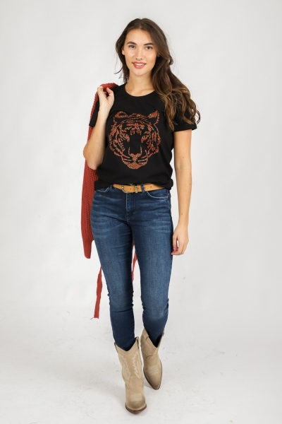 Denim jeans with zippers ECO-AWARE licht roze