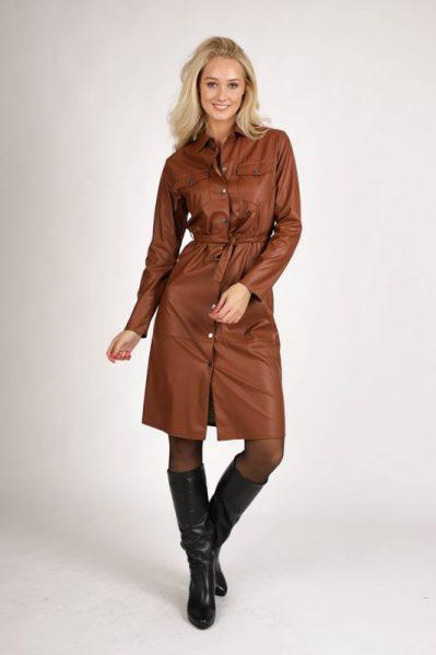 Dress PU d.bruin