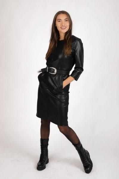 Dress pu & punta zwart