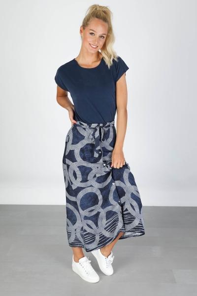 Skirt AOP circle blauw
