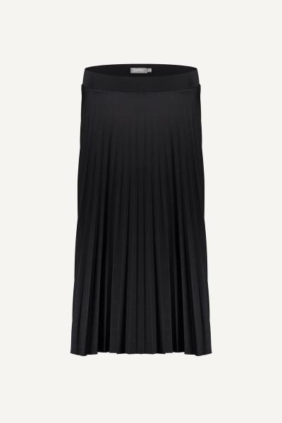 Skirt plisee solid zwart