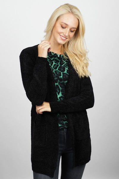 Knitted cardigan zwart