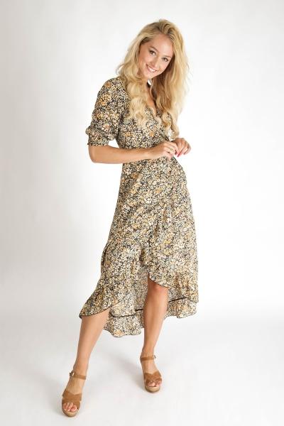 Ambika Maxi-jurken Geel Royal