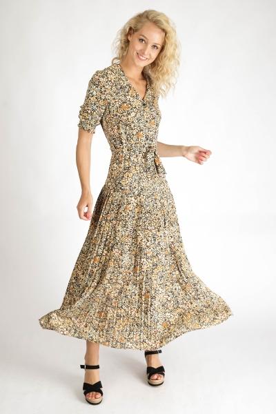 Ambika Maxi-jurken Geel Shirley
