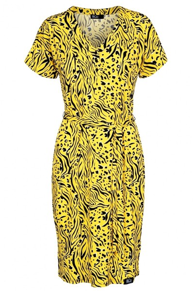 &Co Woman Jurk Geel Lola Dress