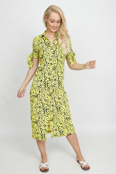 &Co Woman Jurk Geel Reina Longdress