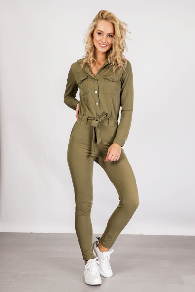 &Co Woman Jumpsuit Groen Pam jumpsuit