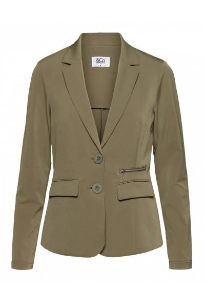 &Co Woman Blazer / Jasje Groen Phileine zipp