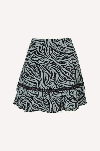 Colourful Rebel Rok Groen Maud zebra mini