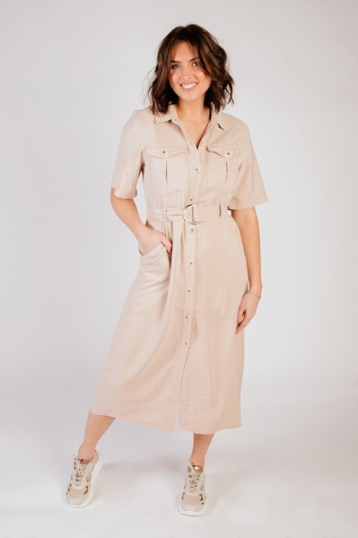 Esqualo Maxi-jurken Groen SP21.17018