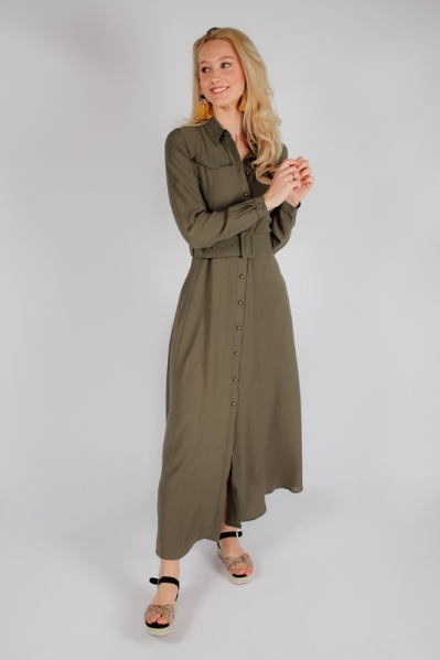 Est'seven Maxi-jurken Groen Rio dress basic