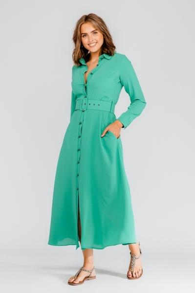 Est'seven Maxi-jurk Groen EST'Rio dress basic