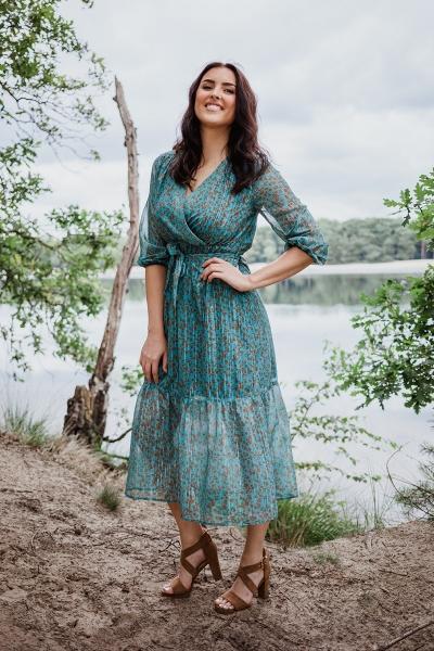 Femme9 Dresses Maxi-jurken Groen Trista
