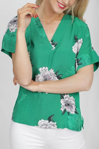 Freequent Shirt / Top Groen Toppa-BL