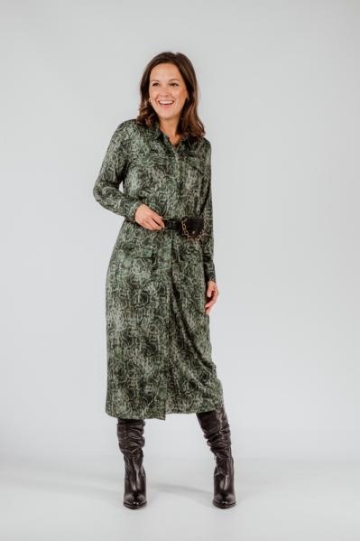 K-Design Midi-jurken Groen T111