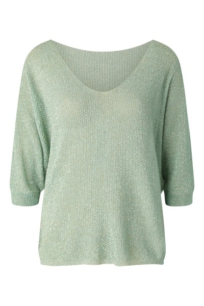 Le Ballon Shirt / Top Groen Lurex wijd