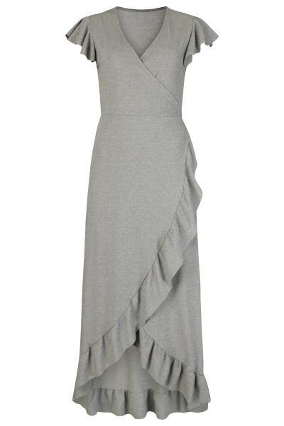 Le Ballon Maxi-jurken Groen Wrap dress lurex