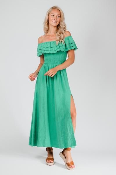 Le Ballon Maxi-jurk Groen 1087
